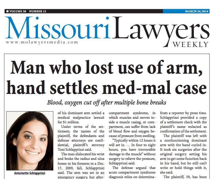 Missouri Lawyers Weekly Article