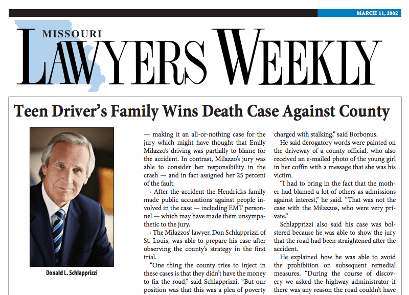 Missouri Lawyers Weekly Article