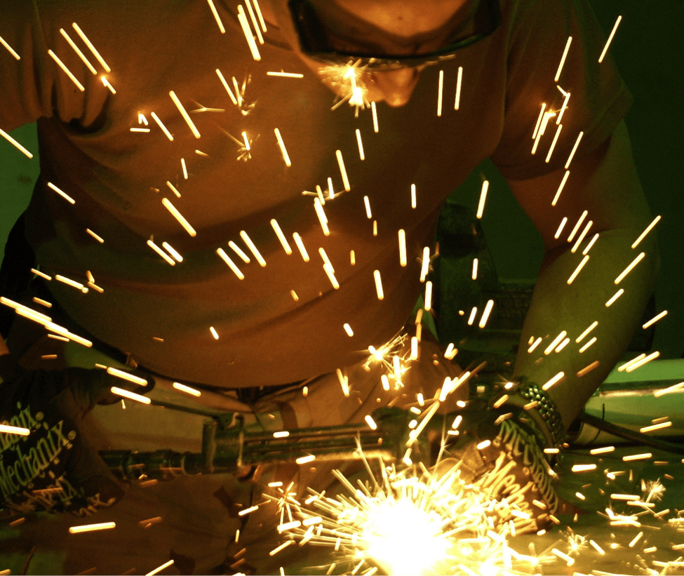 sparks from work tool